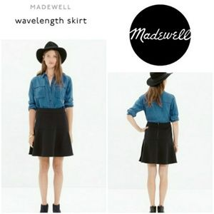 Madewell Wavelength black skirt fit & flare skater